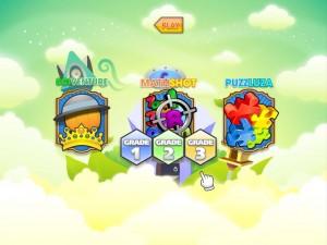 Edutainment Play: Game Select Screen